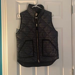 Black and Gray J Crew Puffy Vest